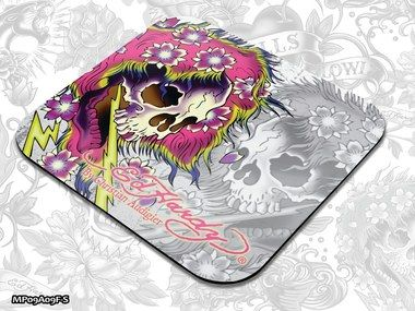 ED HARDY Mouse Pad Small Fashion 2 - Ghost white / podložka pod myš