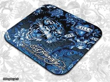 ED HARDY Mouse Pad Small Allover 2 - Blue / podložka pod myš