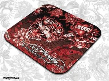 ED HARDY Mouse Pad Small Allover 2 - Red / podložka pod myš