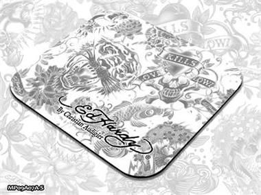 ED HARDY Mouse Pad Small Allover 2 - White / podložka pod myš