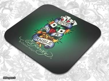 ED HARDY Mouse Pad Larger Fashion 1 - Love is a Gamble / podložka pod myš