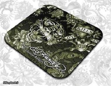 ED HARDY Mouse Pad Larger Allover 2 - Army / podložka pod myš