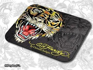 ED HARDY Mouse Pad Larger Fashion 2 - Tiger black / podložka pod myš