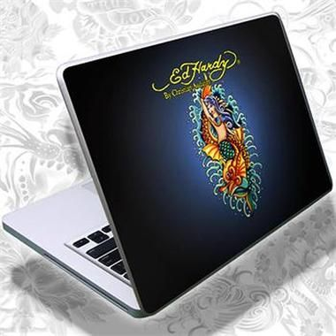 ED HARDY Tattoo Notebook Skin Fashion 1 - Mermaid / polep na notebook