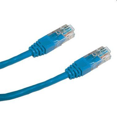 DATACOM Patch kabel UTP CAT5E / 0.5m / modrý