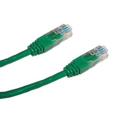 DATACOM Patch kabel UTP CAT5E / 0.5m / zelený