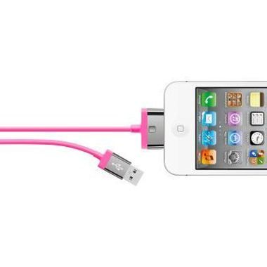 Belkin Mixit kabel pro Apple iPhone / 30-pin / 2 m / růžový