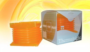 THERMALRIGHT Fan Duct 120mm Orange / 120mm vzduchový tunel