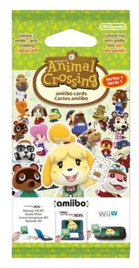 3DS Animal Crossing: Happy Home Designer Card 3 set / 3 Amiibo karty
