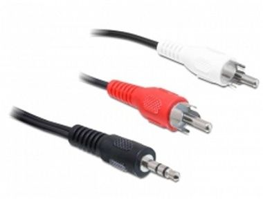 DeLock kabel Audio DC jack 3.5 mm samec > 2 x Cinch samec / 5 m