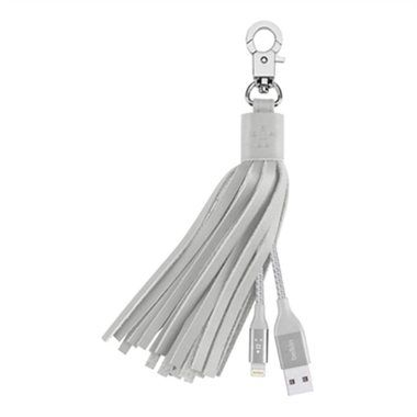 Belkin Leather Tassel USB - Lightning / šedý