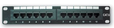 "10"" Patch panel LYNX 12port / Cat5E / UTP / černý"