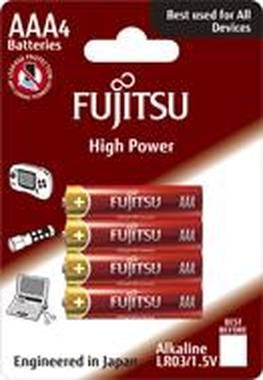 Fujitsu High Power alkalické baterie AAA LR03 / blistr / 4ks