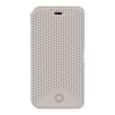 Mercedes Book pouzdro Perforated pro Apple iPhone 6 a 6S / šedý