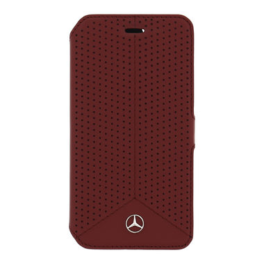 Mercedes Book pouzdro Perforated pro Apple iPhone 6 a 6S / červený