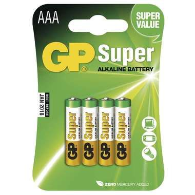 GP AAA Super alkalická - 4 ks