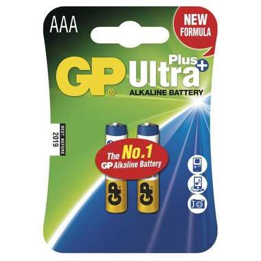 GP Ultra Plus alkalické baterie AAA LR03 / 2ks