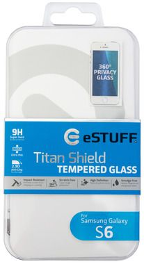eSTUFF TitanShield pro Galaxy S6 Privacy / 9H Temperované sklo / Privacy