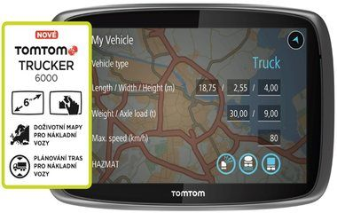 "TomTom Trucker 6000 Europe / Lifetime mapy / 6"" displej"