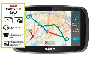 "TOMTOM GO 510 World / Traffic Lifetime mapy / 5"" displej"