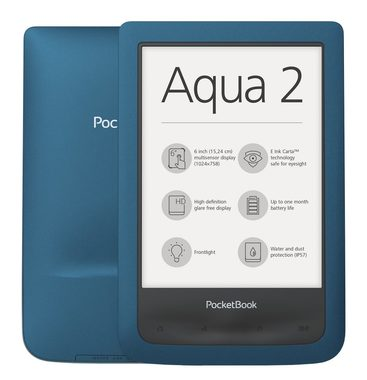 "PocketBook 641 Aqua 2 modrá / Ebook reader / 6"" / E-ink / 1024 x 758 / WiFi / 8GG"