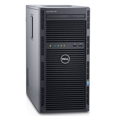DELL PowerEdge T130 / Xeon E3-1220 v5 / 8GB / 2x 1TB SATA / DVDRW / H330 / 2x GLAN / 3YNBD