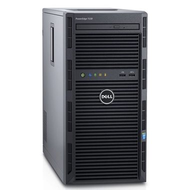 DELL PowerEdge T130 / Xeon E3-1220 v5 / 4GB / 1x 1TB SATA / DVDRW / 2x GLAN / 1YNBD on-site