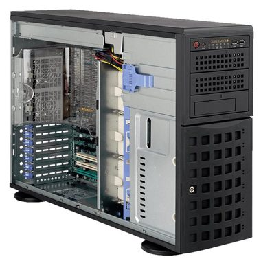 "SUPERMICRO Tower 4U / 8x 3.5"" HS SAS / SATA / 2x 5.25"" / 1x 5.25"" pro 3.5"" / 920W (80PLUS Platinum)"