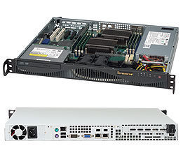 "SUPERMICRO mini1U chassis / 2x 3.5"" fixed HDD / 350W (80PLUS GOLD)"