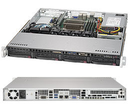 "SUPERMICRO SuperChassis CSE-813MFTQC-350CB / 4 x 3.5"" SAS / SATA Hot-swappable / 350W / 1U chassis"
