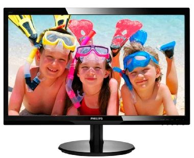 "LCD Monitor 24"" PHILIPS 246V5LSB / LED / 1920 x 1080 / TN / 16:9 / 5ms / 10mil:1 / 250cd-m2 / VGA / DVI-D / Černý"