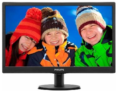 "LCD Monitor 18,5"" PHILIPS 193V5LSB2 / LED / 1366 x 768 / TFT / 16:9 / 5ms / 10mil:1 / 250cd-m2 / VGA / VESA / Černý"