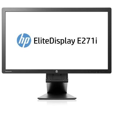 "LCD Monitor 27"" HP E271i / LCD / 1920 x 1080 / IPS / 7ms / 16:9 / 1000:1 / 250cd-m2 / VGA+DVI+DP+USB / Pivot / Černý"