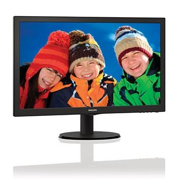 "LCD Monitor 21.5"" PHILIPS 223V5LSB / LED / 1920 x 1080 / TN / 16:9 / 5ms / 250cd-m2 /  VGA / DVI / Černá"