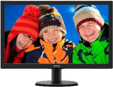"LCD Monitor 23.6"" PHILIPS 243V5LHAB / LED / 1920 x 1080 / TN / 16:9 / 5ms / 10mil:1 / 250cd-m2 / VGA+DVI+HDMI / Repro / Černý"