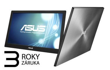 "LCD Monitor 15.6"" ASUS MB168B / TN / WXGA 1366 x 768 / 16:9 / 11 ms / 200 cd / 500:1 / USB 3.0"