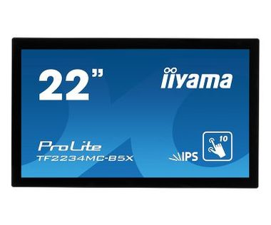 "21.5"" IIYAMA ProLite TF2234MC-B5X / IPS / 1920 x 1080 / 16:9 / 8 ms / 225cd / 1000:1 / VGA+HDMI+DP"