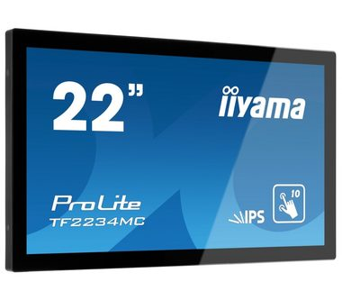 "21.5"" IIYAMA ProLite TF2234MC-B6X / 1920 x 1080 / 1000:1 / 350cd-m2 / 8ms / VGA+HDMI+DP / VESA"