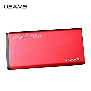 USAMS US-CD23 10000mAh červená / Power Bank / 2x USB / 2.1A