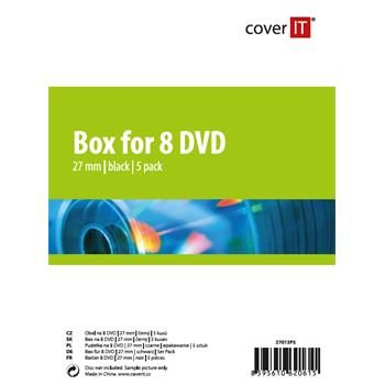 COVER IT 8 DVD 27mm černý 5ks