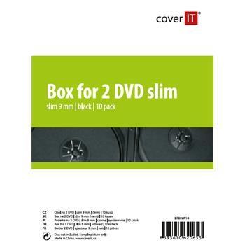 COVER IT 2 DVD 9mm slim černý 10ks