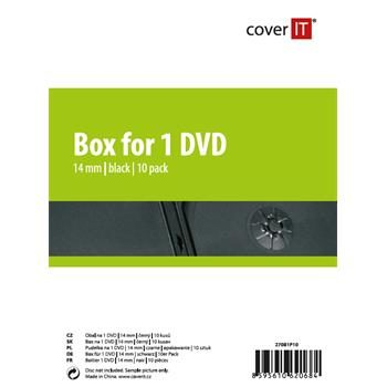 COVER IT 1 DVD 14mm černý 10ks