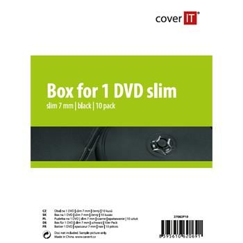 COVER IT 1 DVD 7mm slim černý 10ks
