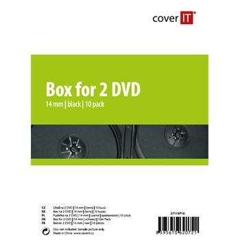 COVER IT 2 DVD 14mm černý 10ks