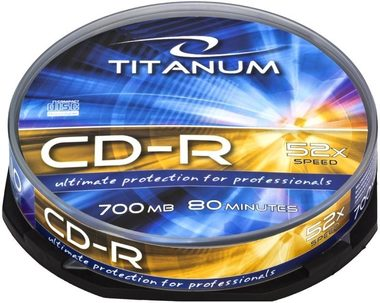 Titanum 2026 CD-R / 700MB / 52x / 10ks cake box