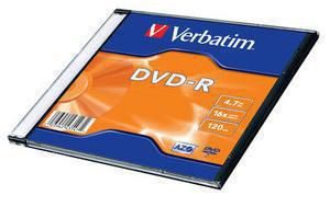 Verbatim 1ks DVD-R 4.7GB 16x AZO / SlimCase