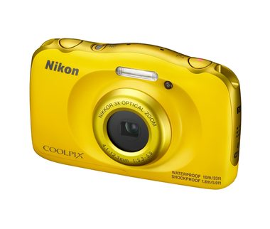 Nikon COOLPIX W100 / 13.2 Mpix / 3x zoom / žlutá + Backpack kit