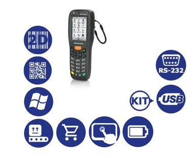 Datalogic Memor X3 / 2D / USB / RS-232 / num. klávesnice / kit2 USB / Win CE 6.0 Core
