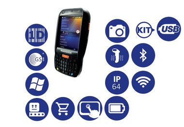 Datalogic Elf / 1D / BT / Wi-Fi / kit USB / Qwerty klávesnice / Win Embedded EN