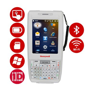 Honeywell Dolphin 7800 HD / 2D / BT / Wi-Fi / num. klávesnice / ext. bat. / Win Embedded Handheld